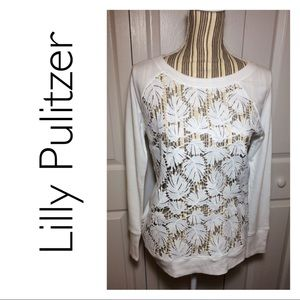 """Lilly Pulitzer Citron Pullover in """"Resort White"""""""
